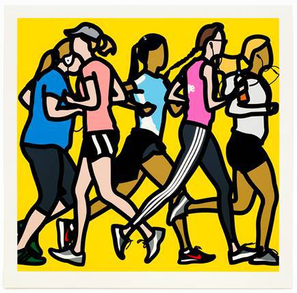 Runners, Running Women by Julian Opie