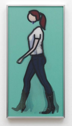 Tina Walking by Julian Opie at