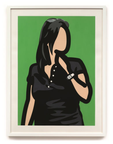 Tourist With Watch by Julian Opie at