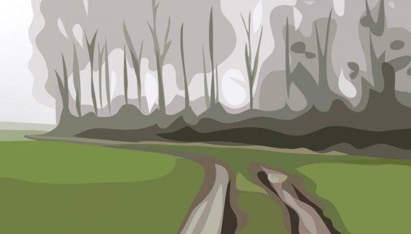 Winter 6 by Julian Opie