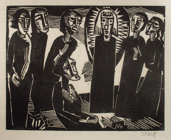 Christ Among The Women by Karl Schmidt-Rottluff at