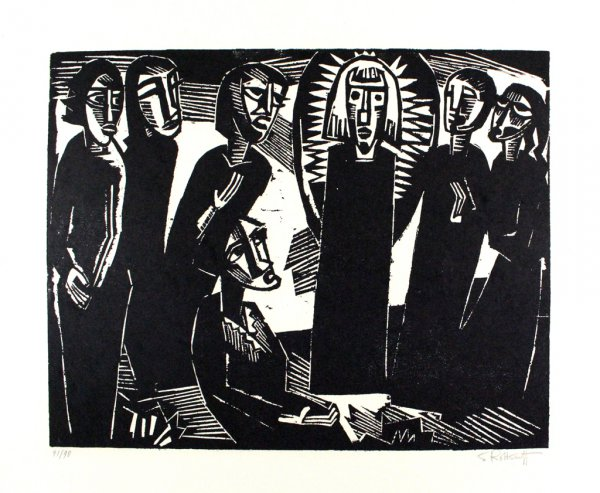Christus Unter Den Frauen / Christ Among The Women by Karl Schmidt-Rottluff