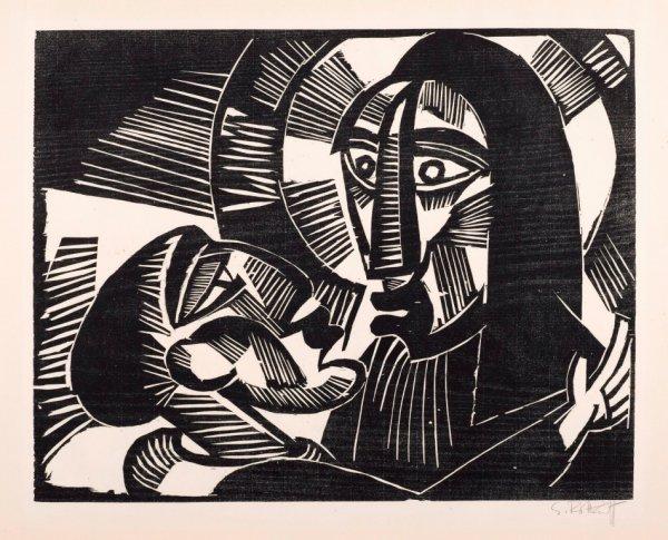 Christus und Judas by Karl Schmidt-Rottluff at Simon Theobald Ltd