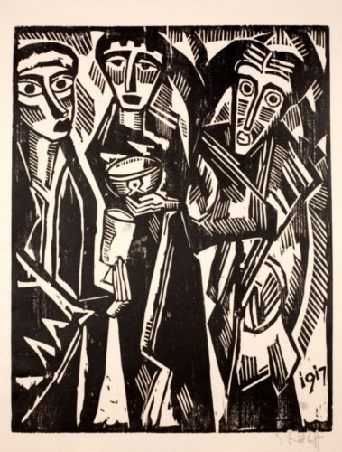 Die Heiligen Drei KÖnige by Karl Schmidt-Rottluff at