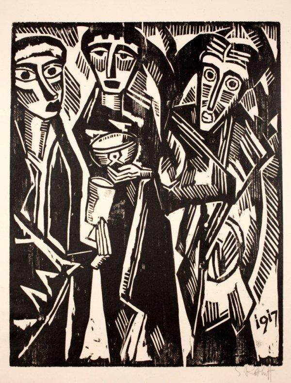 Die Heiligen Drei KÖnige by Karl Schmidt-Rottluff