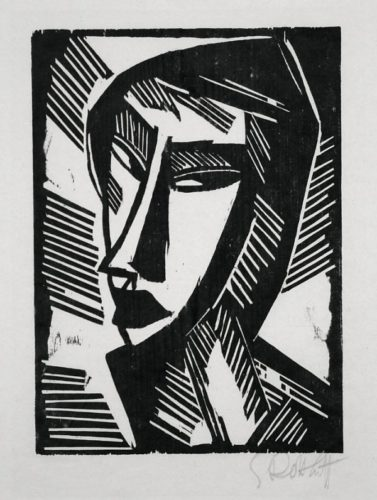 Female Head by Karl Schmidt-Rottluff at
