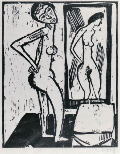 Girl Before A Mirror by Karl Schmidt-Rottluff at