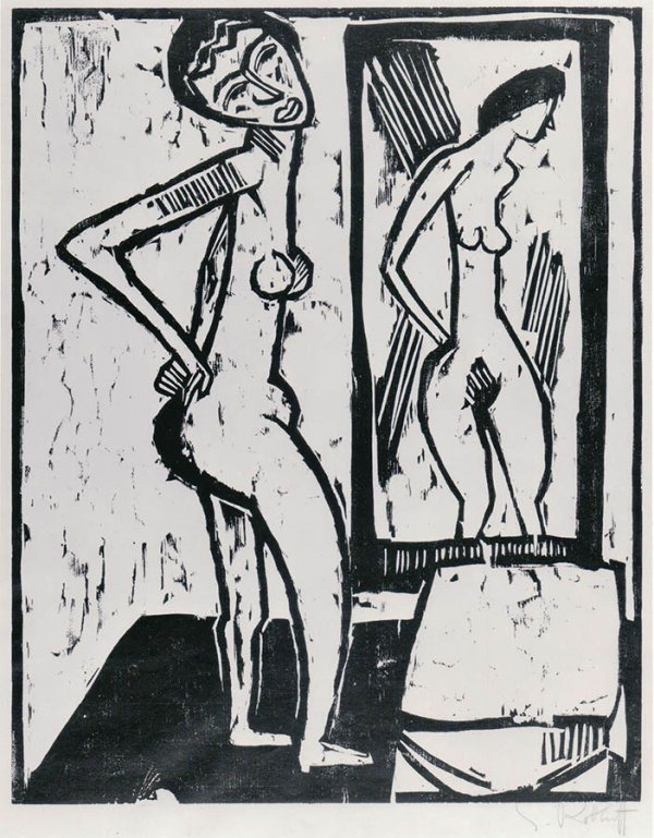 Girl Before A Mirror by Karl Schmidt-Rottluff