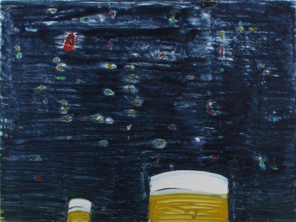 Yellow Stacks, Night by Katherine Bradford