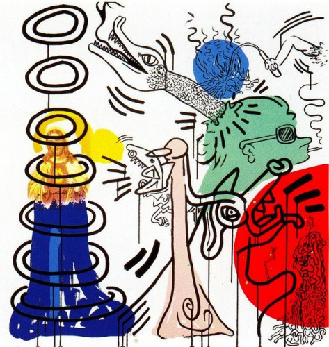 Apocalypse 5 by Keith Haring at