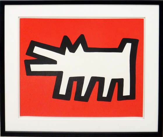 Icons (barking Dog) by Keith Haring at