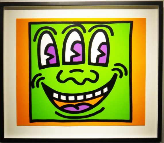 Icons (three Eyed Face) by Keith Haring at Keith Haring
