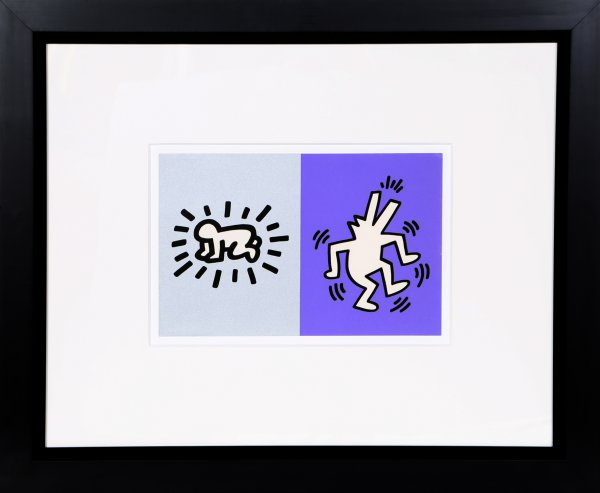 Memorial Tribute Invitation Framed by Keith Haring at