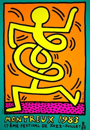 Montreux Jazz Festival (green) by Keith Haring at