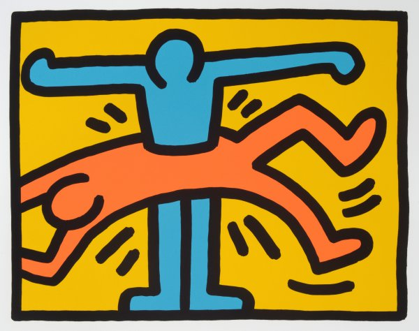 Pop Shop Vi (c). 1989. by Keith Haring at William Weston Gallery (IFPDA)