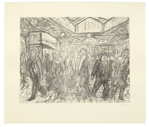 Going Home by Leon Kossoff at