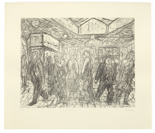 Going Home by Leon Kossoff