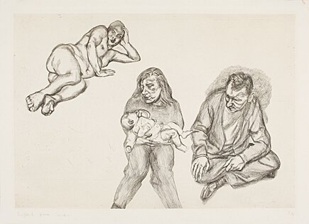 Four Figures by Lucian Freud