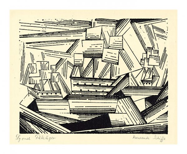 Cruising Sailing Ships by Lyonel Feininger at Harris Schrank Fine Prints (IFPDA)