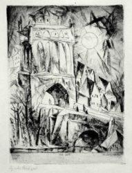 Das Tor by Lyonel Feininger at Harris Schrank Fine Prints (IFPDA)