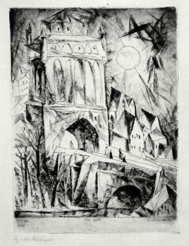 Das Tor by Lyonel Feininger at Harris Schrank Fine Prints (IFPDA)