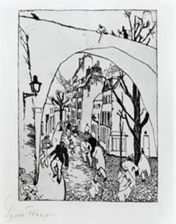 Die Grüne Brücke (the Green Bridge) by Lyonel Feininger
