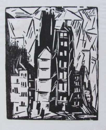 Houses In Paris by Lyonel Feininger at