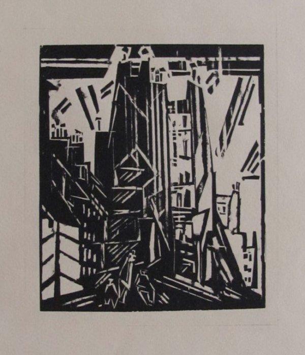 Rue St. Jacques, Paris by Lyonel Feininger