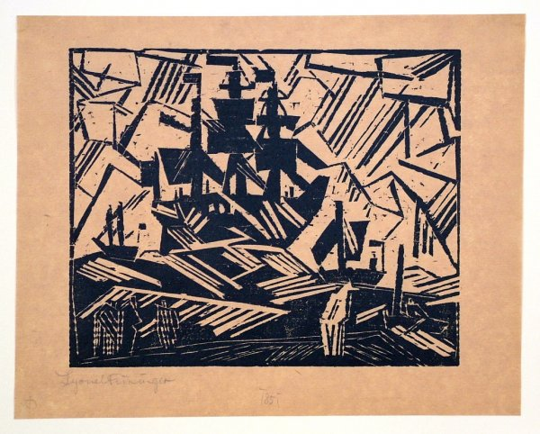 Ship At Sea, Marine by Lyonel Feininger at