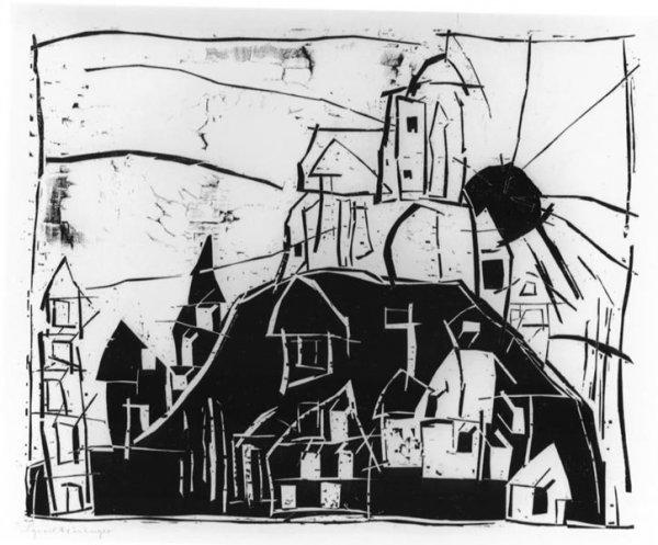 Stadt Auf Dem Berge – Mont St. Michel by Lyonel Feininger