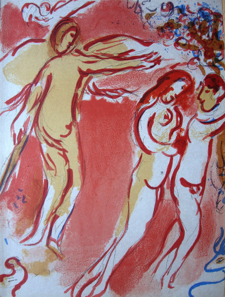 Adam Et Ève Chassés Du Paradis Terrestre (adam And by Marc Chagall