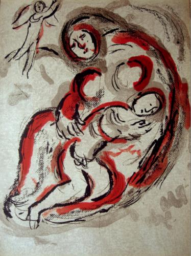 Agar Dans Le Désert (hagar In The Desert) by Marc Chagall at Marc Chagall