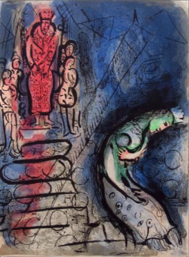 Assuérus Chasse Vasthi (ahasuerus Banishes Vashti) by Marc Chagall at