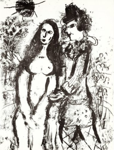 Clown In Love by Marc Chagall