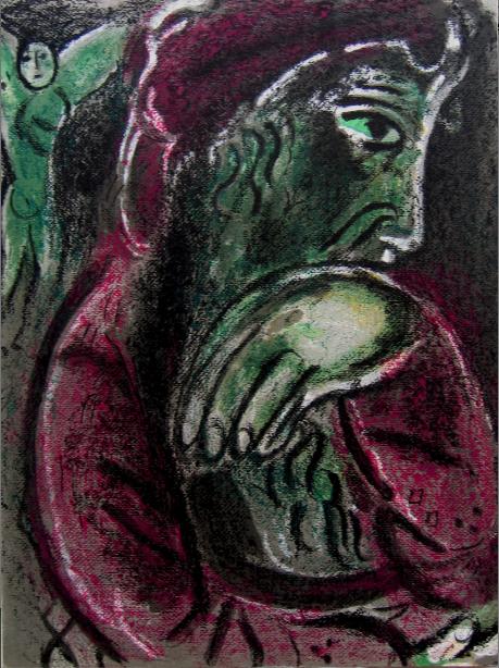 Job Déspéré (job Disconsolate) by Marc Chagall