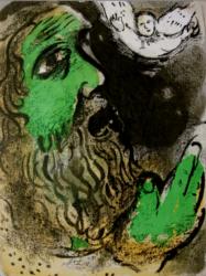 Job En Prières (job At Prayer) by Marc Chagall at