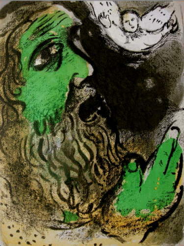Job En Prières (job At Prayer) by Marc Chagall
