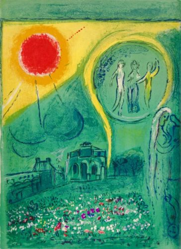 La Carrousel Du Louvre (the Carrousel Of The Louvre) by Marc Chagall at