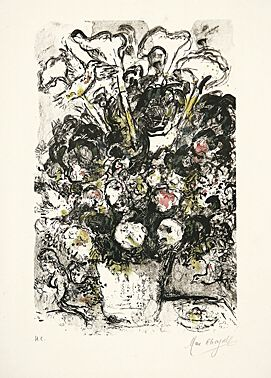 Le Bouquet Blanc by Marc Chagall at Boisseree, Galerie (IFPDA)