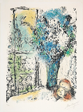 Le Bouquet Bleu by Marc Chagall at Marc Chagall