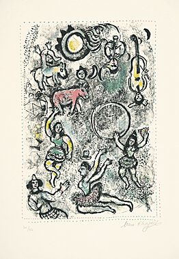 Les Saltimbanques by Marc Chagall at