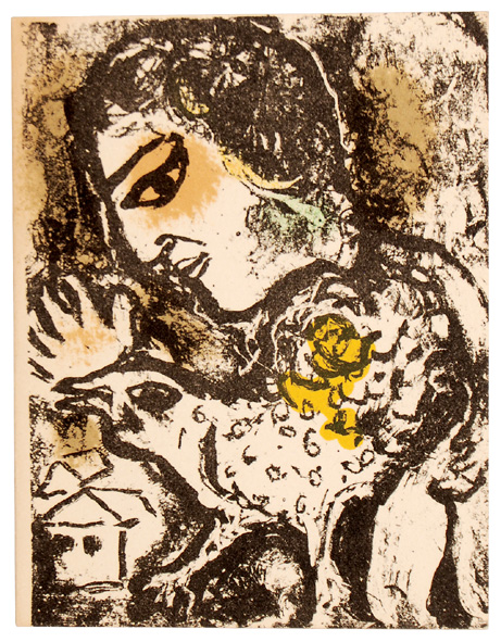 New Year's Card 1975 by Marc Chagall