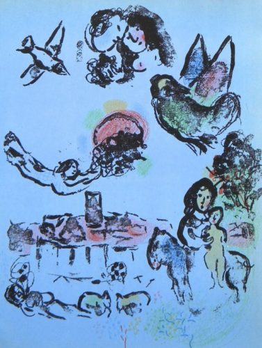 Nocturne In Venice by Marc Chagall