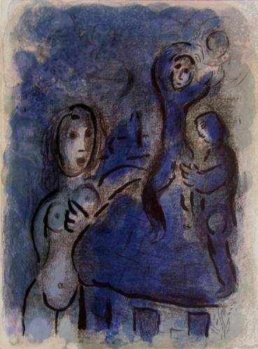 Rahab Et Les Espions De Jéricho (rahab And The Spi by Marc Chagall at Marc Chagall