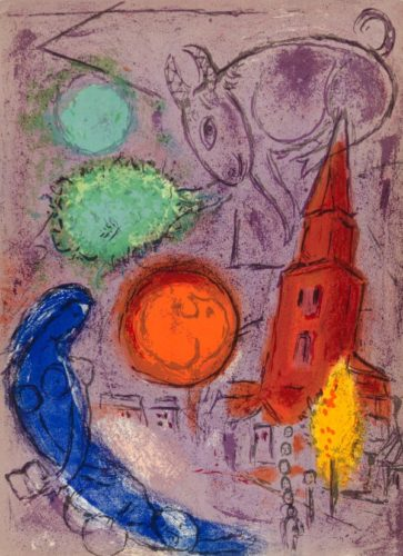 Saint-germain Des PrÉs by Marc Chagall at