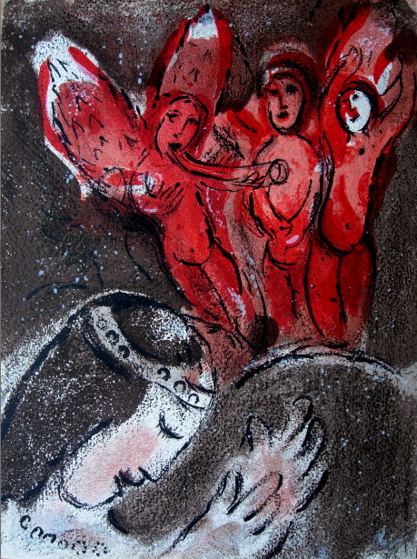 Sarah Et Les Anges (sarah And The Angels) by Marc Chagall