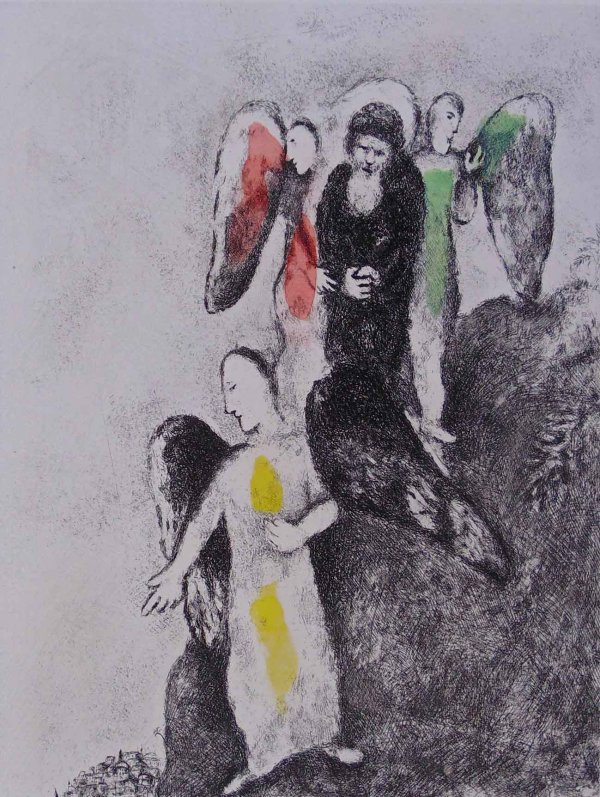 The Descent Toward Sodom by Marc Chagall