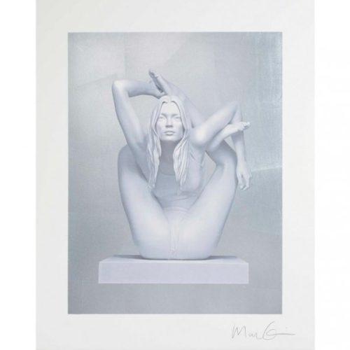 Sphinx (silver Leaf) by Marc Quinn