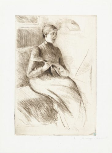 The Mandolin Player by Mary Cassatt at
