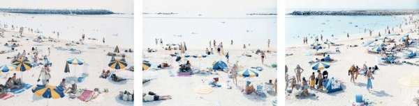 Amadores Triptych by Massimo Vitali